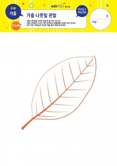 [만3,4세] 가을 나뭇잎 관찰 (가을)