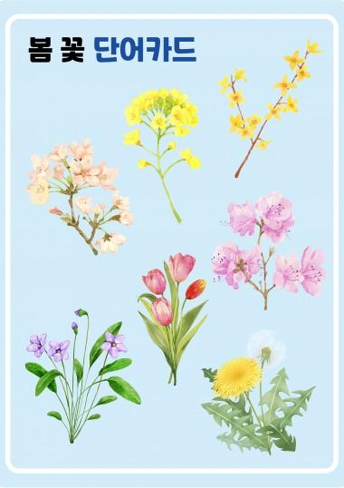 봄꽃 단어카드